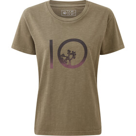 tentree Gradient Ten SS Tee Dame Olive Night Green